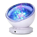Ocean Wave Projector, GRDE 2020 Newest 12 LED Remote Control Night Light Lamp with Timer 8 Lighting Modes Light Show LED Night Light Projector Lamp for Baby Kids Adults Bedroom Living Room
