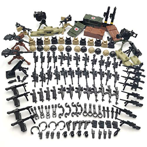 Weapon Pack Military Weapon Accessories Army Guns Simulate Battle Building Blocks Brick Toys for Kids