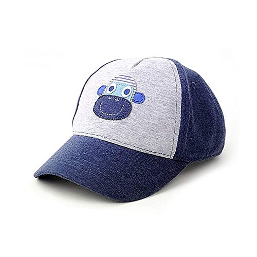 UQ Kids Cute Stars Cotton Baseball Hats Sun Visors, Grey, Adjustable