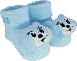 Pantufa com chocalho gato azul, Clingo, Azul