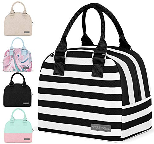 Simple Modern 5L Very Mia Bolsa Termica Porta Alimentos Estilo Bolsos Para Mujer u Hombre, Lunch Box para Ninos, Comida para llevar - escuela, trabajo, picnic Rayas: esmoquin