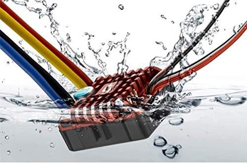 PCtech Hobbywing QuicRun Crawler Brush Brushed WP 1080 80A ESC Electronic Speed Controller Waterproof ESC with Program Box LED BEC XT60-Plug RC Car 1:10 30112750