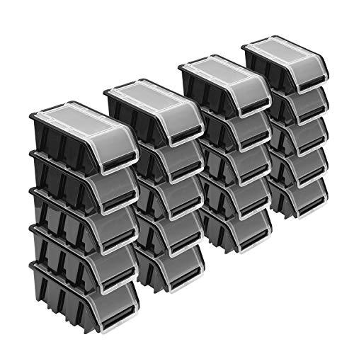 Stapelboxen Set – 20x Stapelbox mit...