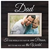 Malden Sun Washed Words Dad Distressed Black Picture Frame, 4 by 6-inch photo collage frame Feb, 2021