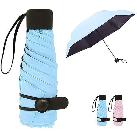 Queta Parapluie ultral/éger Ultra Mini Pliable Parapluie Double Protection Solaire UV UPF 50 imperm/éable /à la Pluie pour Adultes et Enfants Violet Violet