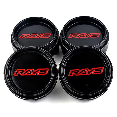 Cubierta del cubo de rueda 4 PCS Rays Wheel Center Caps 66mm para rayos Racing TE37 RIM Emblem Hub Caps Japan Racing Car Styling Accesorios Cubierta central
