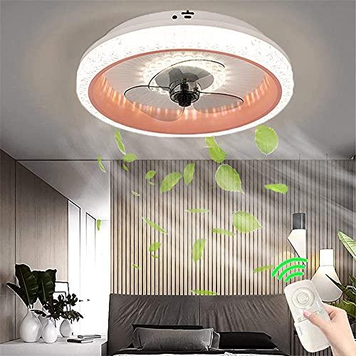 Ventilador de Techo de 80W con iluminación Lámpara de techo LED Quiet fan chandelier Luz de ventilador de control remoto regulable moderna para dormitorio salón ventilador de techo