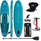 Aqua Marina Aufblasbar Sup Board Stand up Paddle AQUAMARINA Vapor 2021 Komplette Packung 315x79x15 cm mit Kajak Sitz