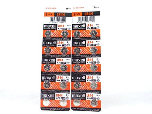 Maxell 20 LR44/AG13Pila de botón alcalinas Pila alcalina, 2x 10Unidades, Larga duración (Durabilidad Fecha markiert)