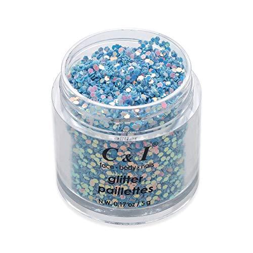 C&I Lentejuelas de Brillo, Polvo Brillante de Fantasía, Brillos de 0.039 pulgadas,...
