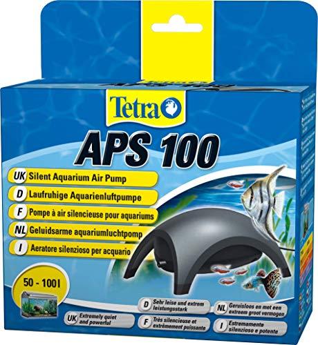 Tetra APS 100 Bomba de acuario 50 - 100 L, silenciosa y con aireadores potentes, antracita