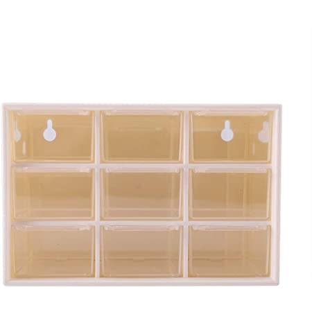 Black and Transparent IMIKEYA Desktop Drawers Organizer Double Layer Plastic Drawer Storage Office Cabinet Box for Home
