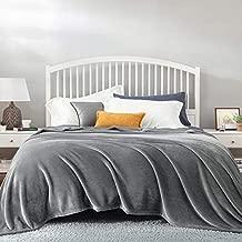 Bedsure Fleece Bed Blankets Queen Size Grey - Soft Lightweight Plush Fuzzy Cozy Luxury Blanket Microfiber, 90x90 inches