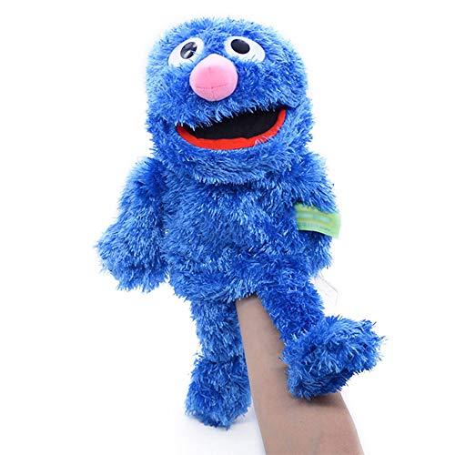 N\ A Sesame Street The Muppet Show Peluche De Juguete De Felpa Marioneta De Mano Juguete Marionetas De Mano Niños Animales Elmo Cookie Monster Muñeca De Peluche 31CM/Azul