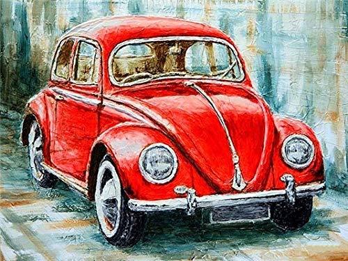 Hermoso coche autobús pintura al óleo por números imagen artística pintura acrílica dibujo sobre lienzo pintado a mano decoración del hogar A20 30x30cm