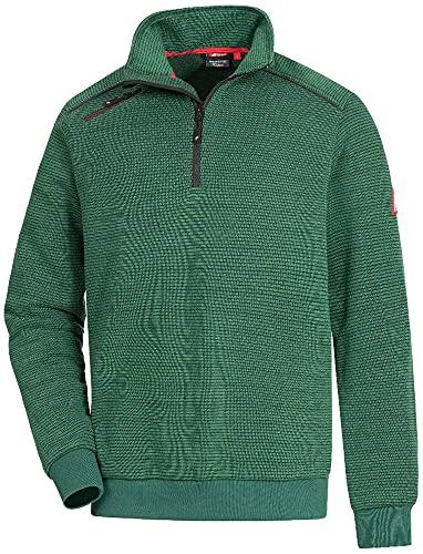 Nitras Motion TEX Plus 7034 Arbeits-Pullover - robuster Strick-Pulli - Sweater für die Arbeit - Grün - XL