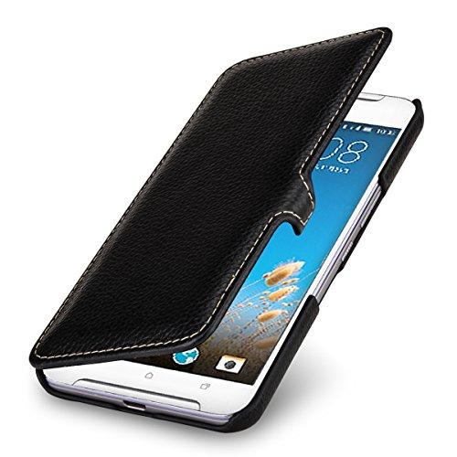 StilGut Book Type Hülle, Hülle Leder-Tasche kompatibel mit HTC One X9, Schwarz mit Clip
