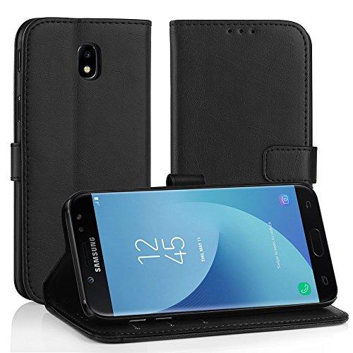 Simpeak Funda Compatible con Samsung Galaxy J5 2017, Fundas Cuero Compatible con Galaxy J5 2017(5.2 Pulgadas), Soporte Plegable