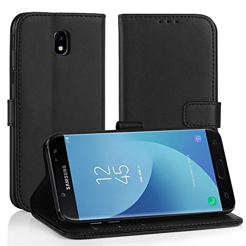 Simpeak Cover Compatibile per Samsung Galaxy j5 2017,Custodia Compatibile con Samsung Galaxy j5 2017 in Pelle Portafoglio con Supporto,Nero
