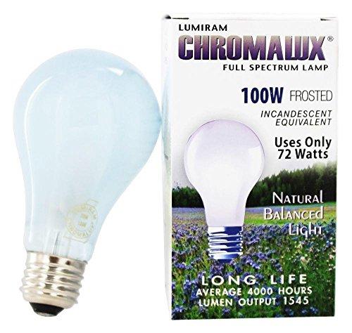 Chromalux H&PC-67531 Light Bulb Frosted Full Spectrum (100 Watt) 1 Count