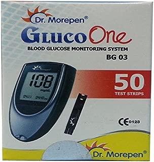 Dr. Morepen Equipment - Dr. Morepen BG-03 Blood Glucose Test Strips, 50 Strips (Only Strips) - (Multicolor)
