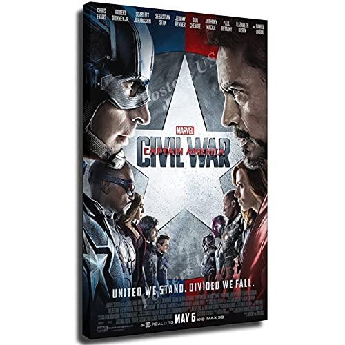 Posters USA - Marvel Capitán América de la Guerra Civil Póster de la película Frame-style1 40 x 60 cm