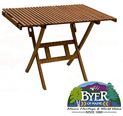 BYER OF MAINE, Pangean Roll Top Table, Easy to Fold and Carry, Hardwood, Folding Wood Table, Perfect for Camping, Wood Camping Table, Wood Folding Table, Matches All Furniture in the Pangean Line