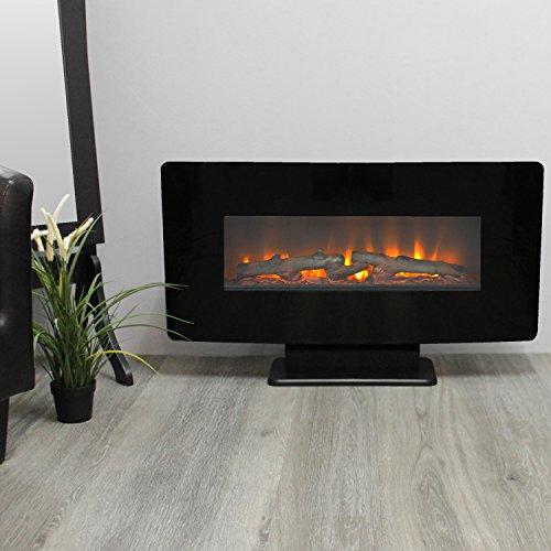Classic Fire Elektrokamin Calgary 1400W mit simuliertem Kaminfeuer und Fernbedienung Feuereffekt...