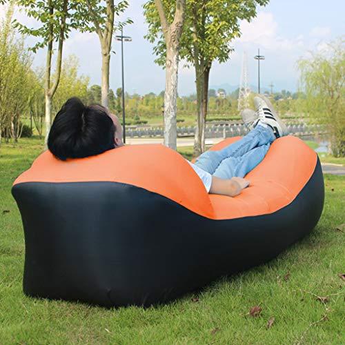 YYH Colchón de Aire portátil del sofá del sofá de la Cama Inflable al Aire Libre del sofá de Lazy Couch Cómodo (Color : Red)