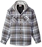Wrangler Authentics mens Long Sleeve Quilted Lined Flannel Jacket With...