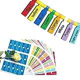Etiquetas de cables autoadhesivas para cables 8 colores 8 hojas 240 etiquetas de cables Resistente a los rayos UV Resistente a las rasgaduras Cable resistente Pegatina para marcado Impresora láser