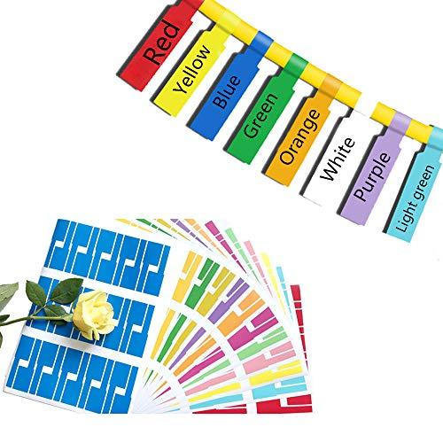 Kabel Beschriftung Ettiketten Selbstklebend,Kabelettikett Cable Label 8 Farben 8 Blatt 240 Kabel Labels,UV-beständige Wasserdicht Reißfest Haltbar Kabel Aufkleber für Kabelkennzeichnung Laserdrucker