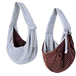 "in budget affordable IPrimio Carrying Straps for Dogs and Cats – Reversible Gray Pet Bag ""Hands Free"" – With Soft Bags…"