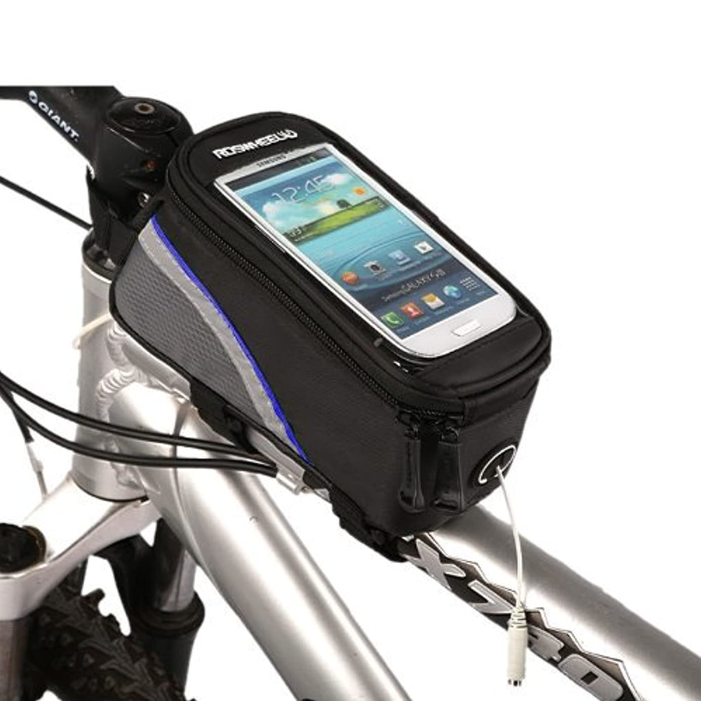 Roswheel Cycling Bike Bicycle Frame Pannier Front Top Tube Bag X Large Waterproof for iPhone Samsung Mobile Cell Phone