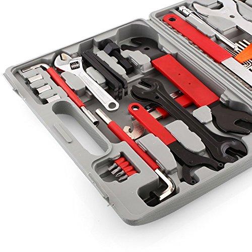 Femor Fahrrad Werkzeugkoffer 48tlg Fahrrad Werkzeug Set, Fahrradwerkzeug für Fahrrad Montagearbeiten und Reparaturen, Fahrrad Werkzeugset mit Tragekoffer und Multitool - 6