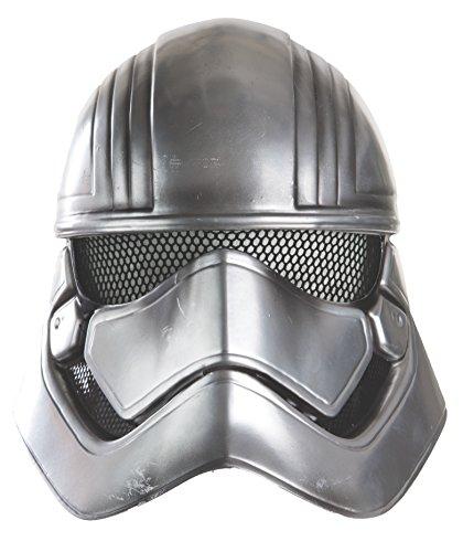 Star Wars 7 - Demi-masque La Guerre des Etoiles 7 Capitaine Phasma accessoire de costume pour enfant argenté