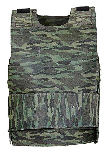 Widmann 1756 ? Gilet pare-balle Camouflage, osfma, noir, taille unique adulte