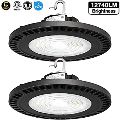 UFO LED High Bay Light,150W [300W-450 Equivalent] 22500lm 5000K IP65 Waterproof Industrial Grade Warehouse Hanging Light Workshop Lamp cETLus Listed-150W