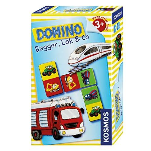 Domino Bagger, Lok & Co.: Mitbringspiel für 2 - 6 Spieler