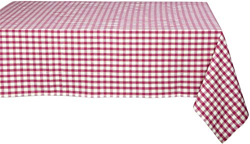 Nappe Rectangle 150 x 200 cm Sorbet Carreaux Rose