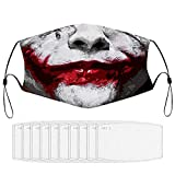 YUESUO Halloween Joker Dustproof Adjustable Protective Masks Face Mask Scarf Mouth Mask Washable for...