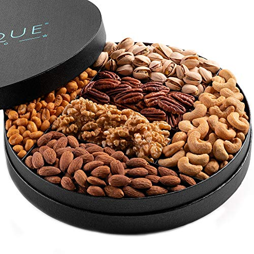 Gourmet Nut Gift Tray - 10', Freshly Roasted Assorted Nuts for Holiday and Corporate Gifting, Thanksgiving Gift, Hostess Gift, Valentines Day, Mothers Day, Fathers Day, His Or Her Birthday