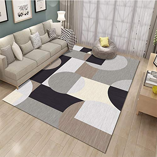 Modern Geometric Space Area Rug, Blue and Grey Rugs Decor Floor Mat for Living Room Bedroom Kitchen Bathroom,Gray,23.6x35.4in/1.9'x2.9'