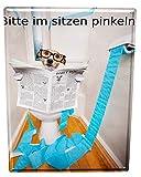 Blechschild Lustiges Comic Hundetoilette
