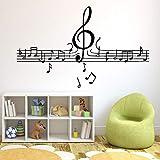 Musikalische Notizen Wallpaper Home Decoration Wandaufkleber für Kinderzimmer Wanddekoration...
