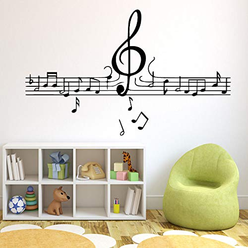 Musikalische Notizen Wallpaper Home Decoration Wandaufkleber Für Kinderzimmer Wanddekoration Wandbilder Gelb XL 58cm X 96cm