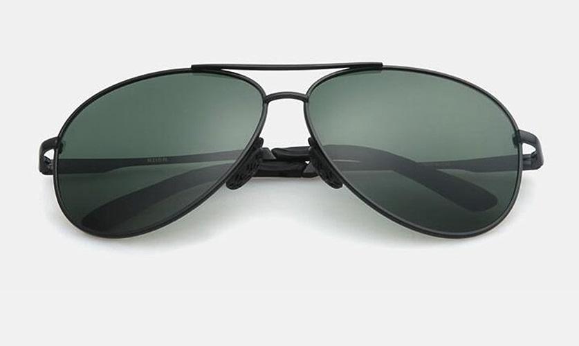 Lunettes de soleil hommes, grenouille polarisés miroir lunettes, lunettes de soleil aviateur conduite miroirs