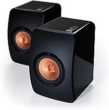 KEF Ls50 altavoces de estantería negros pareja
