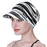 FocusCare Newsboy Cap For Chemo Mujer Algodón Vaquero Sombreros Bucket Beanie para...