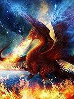 炎の中のパズルドラゴン1000ピースパズルジグソーパズルパズルユニークなギフト